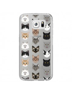 Coque Chats Transparente pour Samsung Galaxy S6 Edge - Pet Friendly
