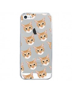 Coque Chats Beige Transparente pour iPhone 5/5S et SE - Pet Friendly