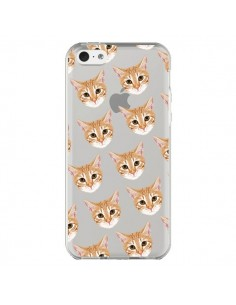 Coque Chats Beige Transparente pour iPhone 5C - Pet Friendly