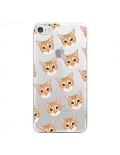Coque Chats Beige Transparente pour iPhone 7 - Pet Friendly