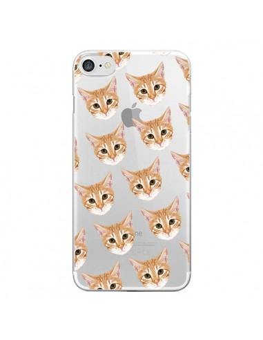 Coque iPhone 7/8 et SE 2020 Chats Beige Transparente - Pet Friendly
