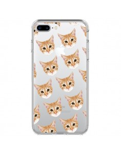 Coque Chats Beige Transparente pour iPhone 7 Plus et 8 Plus - Pet Friendly