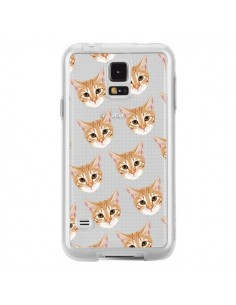 Coque Chats Beige Transparente pour Samsung Galaxy S5 - Pet Friendly