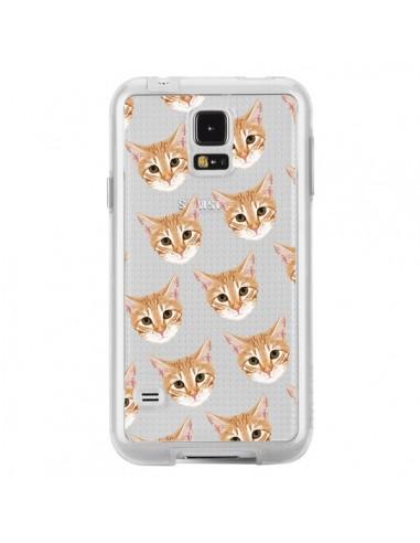Coque Chats Beige Transparente pour Samsung Galaxy S5 - Pet Friendly