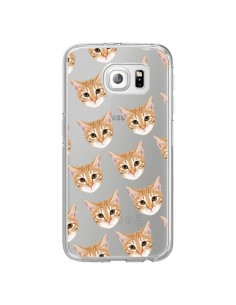 Coque Chats Beige Transparente pour Samsung Galaxy S6 Edge - Pet Friendly