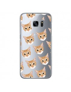Coque Chats Beige Transparente pour Samsung Galaxy S7 - Pet Friendly