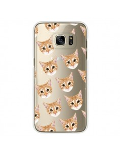 Coque Chats Beige Transparente pour Samsung Galaxy S7 Edge - Pet Friendly