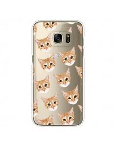 Coque Chats Beige Transparente pour Samsung Galaxy S7 Edge - Pet Friendly