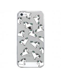 Coque iPhone 5/5S et SE Licorne Crinière Transparente - Nico