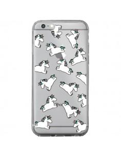 Coque Licorne Crinière Transparente pour iPhone 6 Plus et 6S Plus - Nico