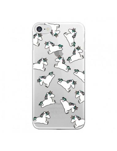 Coque iPhone 7/8 et SE 2020 Licorne Crinière Transparente - Nico