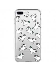 Coque iPhone 7 Plus et 8 Plus Licorne Crinière Transparente - Nico
