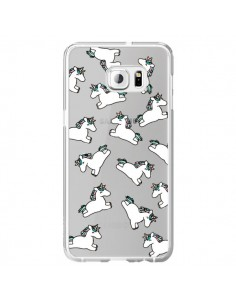 Coque Licorne Crinière Transparente pour Samsung Galaxy S6 Edge Plus - Nico