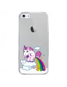 Coque iPhone 5/5S et SE Licorne Caca Arc en Ciel Transparente - Nico
