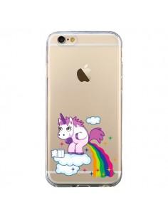 Coque iPhone 6 et 6S Licorne Caca Arc en Ciel Transparente - Nico