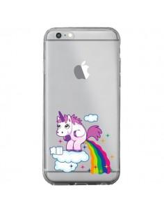 Coque Licorne Caca Arc en Ciel Transparente pour iPhone 6 Plus et 6S Plus - Nico