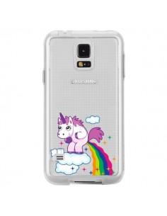 Coque Licorne Caca Arc en Ciel Transparente pour Samsung Galaxy S5 - Nico