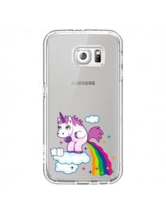 Coque Licorne Caca Arc en Ciel Transparente pour Samsung Galaxy S6 - Nico
