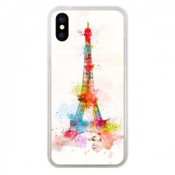 Coque Paris Tour Eiffel Muticolore pour iPhone X - Asano Yamazaki