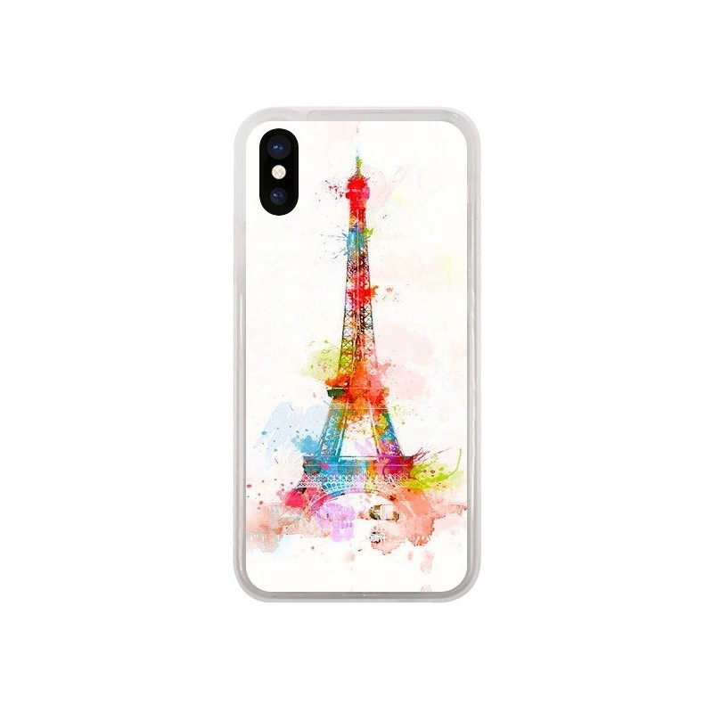 Coque iPhone X et XS Paris Tour Eiffel Muticolore - Asano Yamazaki