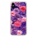 Coque iPhone X et XS Fleurs Violettes Flower Storm - Asano Yamazaki