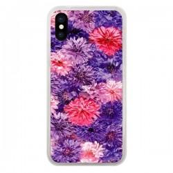Coque Fleurs Violettes Flower Storm pour iPhone X - Asano Yamazaki