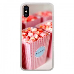 Coque Punk Popcorn Rose pour iPhone X - Asano Yamazaki
