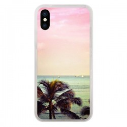 Coque iPhone X et XS Sunset Palmier Palmtree - Asano Yamazaki