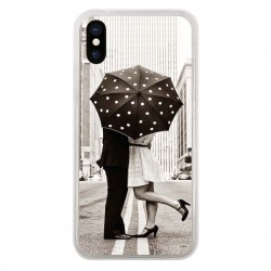 Coque Secret under Umbrella Amour Couple Love pour iPhone X - Asano Yamazaki