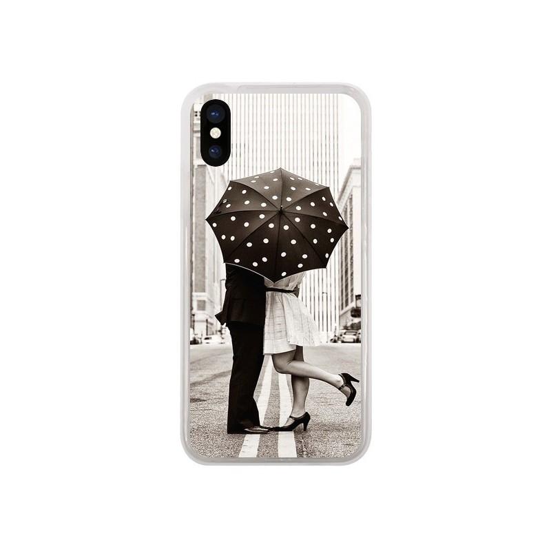 Coque iPhone X et XS Secret under Umbrella Amour Couple Love - Asano Yamazaki