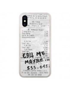 Coque iPhone X et XS Call me maybe - Benoit Bargeton