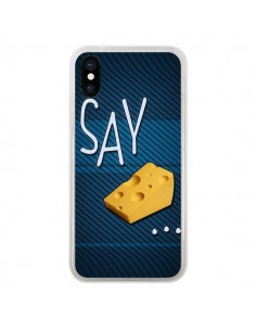 Coque iPhone X et XS Say Cheese Souris - Bertrand Carriere