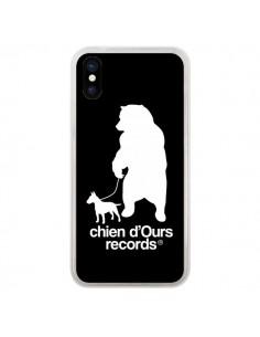 Coque iPhone X et XS Chien d'Ours Records Musique - Bertrand Carriere