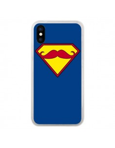 Coque Super Moustache Movember Superman pour iPhone X - Bertrand Carriere