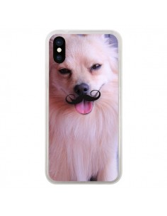 Coque iPhone X et XS Clyde Chien Movember Moustache - Bertrand Carriere