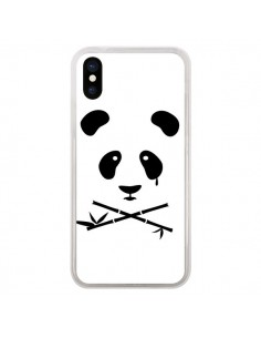 Coque iPhone X et XS Crying Panda - Bertrand Carriere