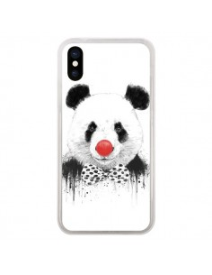 Coque Clown Panda pour iPhone X - Balazs Solti