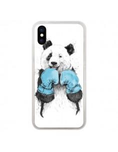 Coque iPhone X et XS Winner Panda Boxeur - Balazs Solti