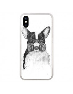 Coque Tagueur Bulldog Dog Chien Big City Life pour iPhone X - Balazs Solti