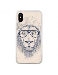 Coque Cool Lion Lunettes pour iPhone X - Balazs Solti