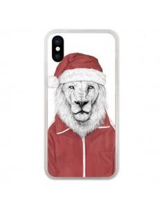 Coque Santa Lion Père Noel pour iPhone X - Balazs Solti