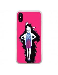 Coque iPhone X et XS Lola Femme Fashion Mode Rose - Cécile