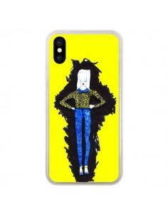 Coque iPhone X et XS Julie Femme Fashion Mode Jaune - Cécile