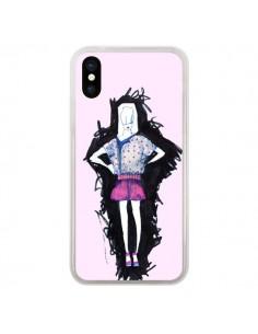 Coque Valentine Femme Fashion Mode Rose Clair pour iPhone X - Cécile