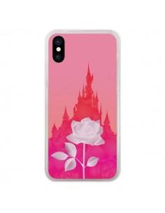 Coque iPhone X et XS Château La Belle et la Bête Rose - Enilec