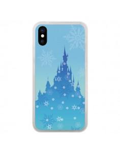 Coque Château La Reine des Neiges Flocon Neige pour iPhone X - Enilec