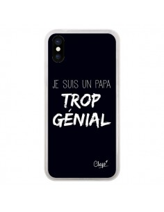Coque iPhone X et XS Je suis un Papa trop Génial Noir - Chapo