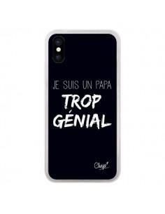 Coque Je suis un Papa trop Génial Noir pour iPhone X - Chapo