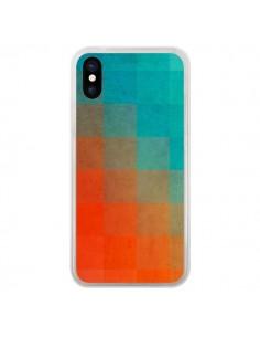 Coque iPhone X et XS Beach Pixel Surface - Danny Ivan