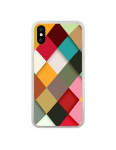 Coque Colorful Mosaique pour iPhone X - Danny Ivan